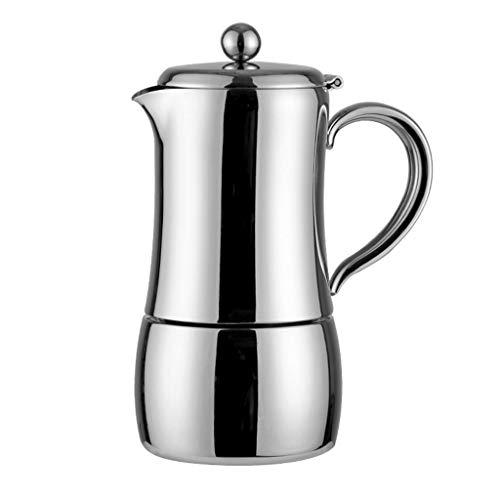 Cafetera de acero inoxidable 304 – Diseño de aislamiento – Percolador de café – Cafetera italiana hecha a mano – 4 porciones / 6 porciones