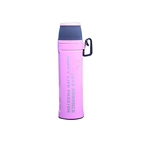Feetbilbli - Botella de agua portátil de acero inoxidable, taza de agua duradera, gran capacidad, 550 ml, diseño aislado, buena tecnología de aislamiento, alta resistencia a la temperatura, producto Elite