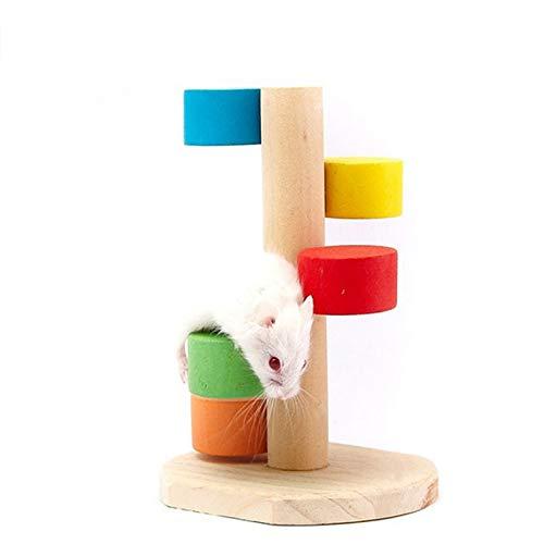 Mascota hámster Madera Escala Escalera Plegable Colorido Juguete Plataforma de Animales pequeños Huangchuxin