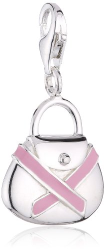 Thomas Sabo Damen-Charm Club-Anhänger Charity Pink Ribbon 925er Sterlingsilber 0347-007-9