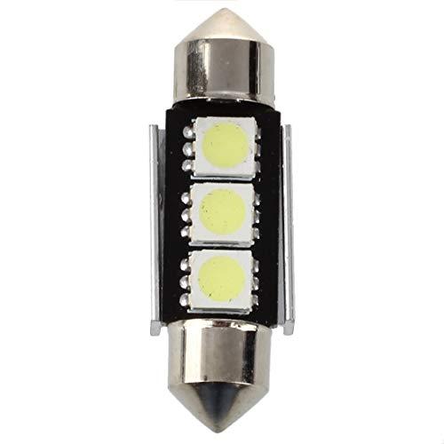 SODIAL(R) 10X 36mm CANBUS Sans Erreur3 LED 5050 SMD 6418 C5W Licence Plaque ampoule du plafonnier