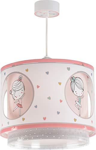 Dalber Sweet Dance Lámpara infantil colgante con diseño bailarina, rosa