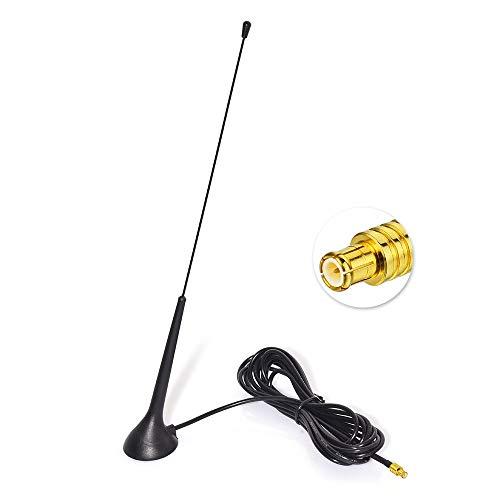 Eightwood DAB DAB+ Antenne Autoradio MCX Antenne (KFZ Magnetfußantenne) mit Antenne Extension Kabel RG174 300cm für Digitalradio Empfang Blaupunkt Beat TechniSat Pioneer Sony Kenwood Alpine MEHRWEG