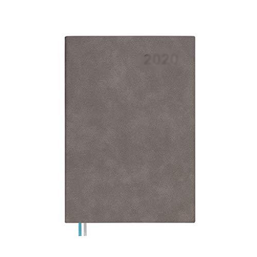 ZHIHUI Libretas PU Cuaderno de Viaje Moda Hardcover Diario de Escritura de rayados Grueso Pape 120GSM Grueso de Escritura for la Escuela de Trabajo Mujeres Niños Diarios (Color : Gray)