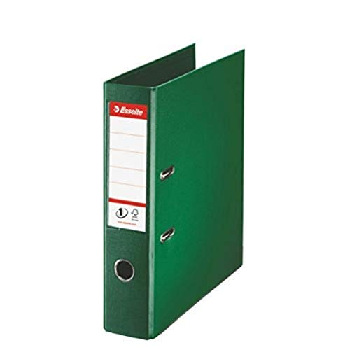 Esselte Archivador de Palanca A4, Verde, Lomo 72mm, Plástico, Pack 10 Unidades, 811360