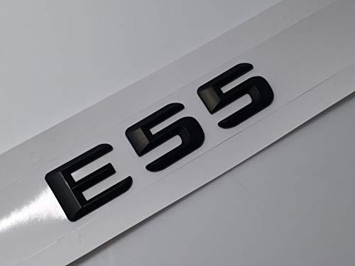 DAI QI por Black Auto Car Trasero Pegatina Emblema Insignia Decoración Decoración del Coche Realizar Pegatina para Mercedes Benz E Clase E55 E63 AMG Compatible con (Color Name : E55)