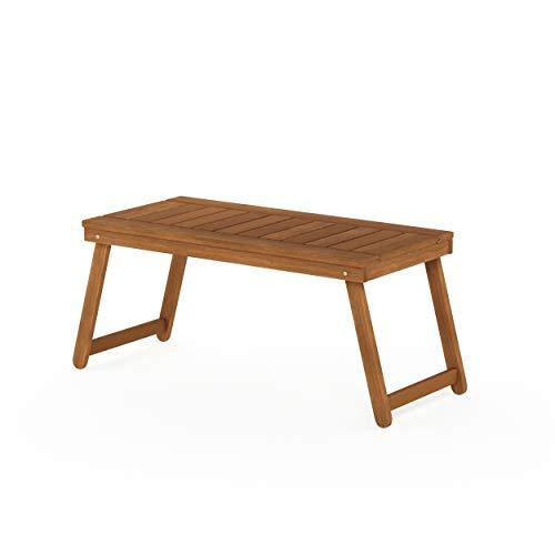 Furinno FG19064 Tioman Outdoor Hardwood Coffee Folding Table, Natural