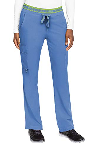 Med Couture Women's Activate Flow Yoga Two Pocket Cargo Pant, Ceil, Large