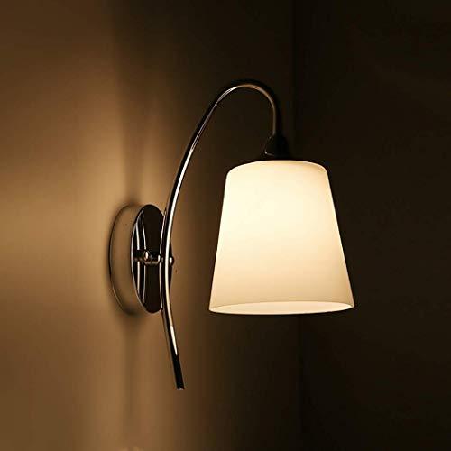 Zixin Moderne Minimalist LED Nachtwandleuchte Glas-Hotel Bar Lampshade Wandleuchte mit Hardware Saugnapf Wohnzimmer Schlafzimmer Aisle-Lichter