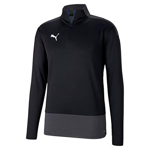 PUMA Herren teamGOAL 23 Training 1/4 Zip T Pullover, Black-Asphalt, XL