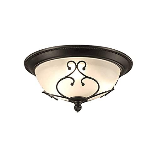 Sunmong Plafoniera Retro da Incasso con plafoniere Rotonde Vicine al soffitto per Illuminazione di Interni, Paralume in Vetro ad Alta trasmittanza (Dimensioni : A)