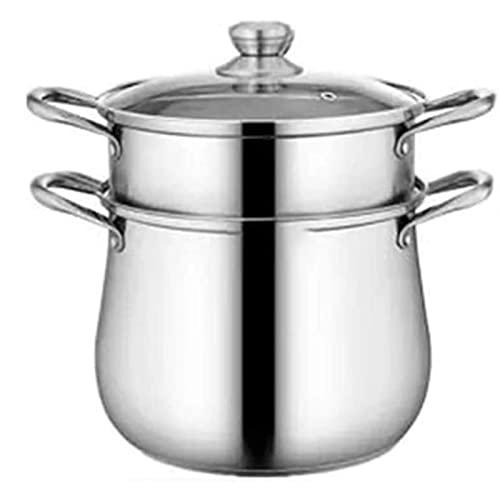 HHTD Pote de Sopa de Acero Inoxidable Espesado de Acero Inoxidable Compatible con Todo Tipo de Estufas