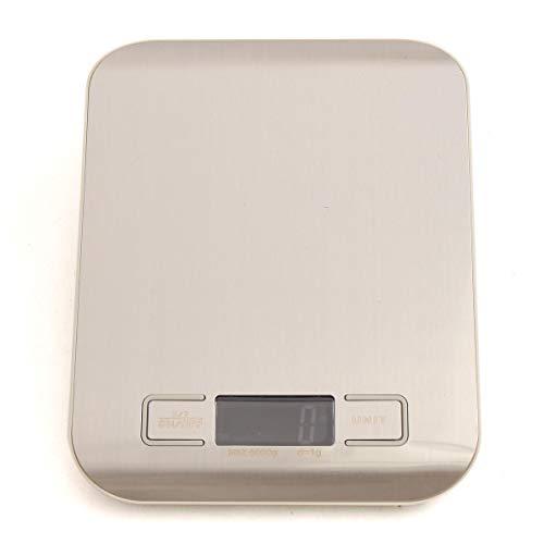 MJJEsports Digitale LCD-diete, 5 kg/1G, elektronisch, postgewicht, grijs/wit, grijs, 1