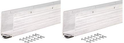 M-D Building Products 68593 1-3/4x36-Inch Aluminum Weatherstrip Door Bottom with Mill/Vinyl Finish (2-(Pack))