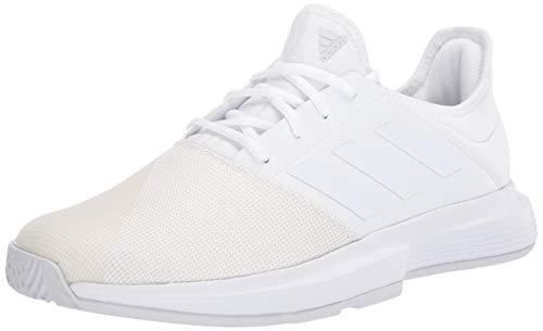 adidas Women's GameCourt Tennis Shoe, FTWR White/FTWR White/Dash Grey, 9.5 M US