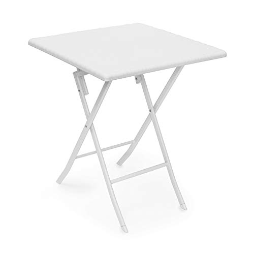 Relax Days Garden table foldable Bastian square folding table, white, 61.5 x 61.5 x 74 cm, 10020057_431