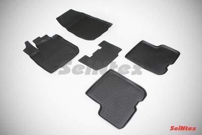 Seintex SX85606 rubberen matten met randen, zwart, 30 mm, 5 stuks
