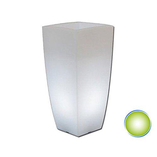 Tkm Vaso Agave Quadrato con Luce Verde H90 40x40Cm