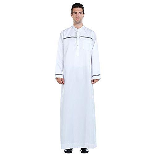 Deylaying Männer Arab Muslim Kaftan Langarm Gebetsmantel Pakistan Ethnische Kleidung Saudi-Arabisch Full Cover Jubba Thobe