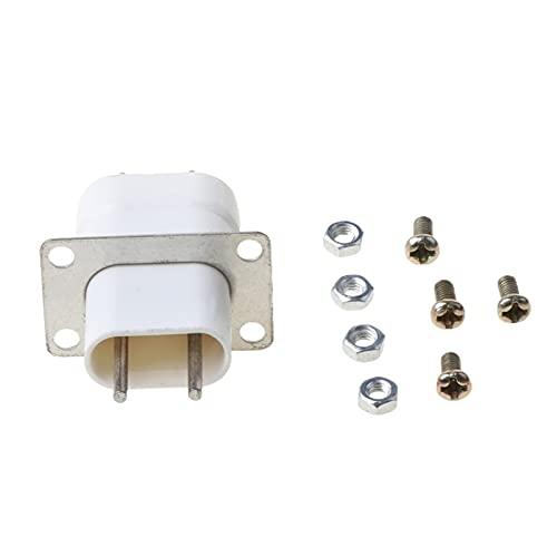 FPZHONG Inicio Electronic Microwave Horno Magnetron Filamento 4 Pin Socket Converter White G8TC