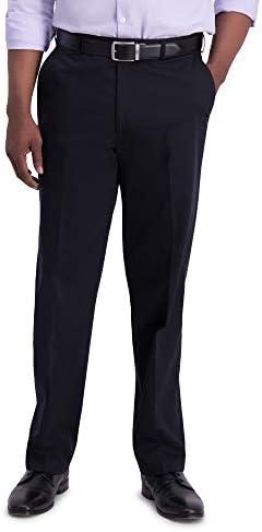 Haggar Men s Big Tall Premium No Iron Classic Fit Expandable Waist Plain Front Pant Black 48x32 product image