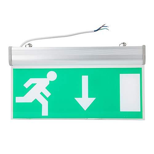 Garsent Geführtes Ausgangszeichen, Notausgang Beleuchtungs Zeichen der Evakuierungs Anzeige Acryl-LED für Mall, Supermärkte, die Einfach zu Installierenden Hotels