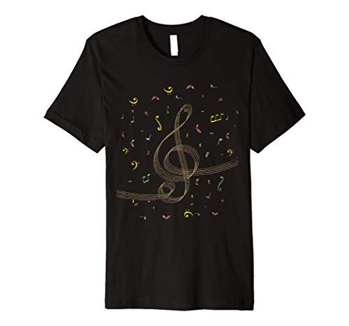 Notenschlüssel T-Shirt - Violinschlüssel Musik-Noten Musiker