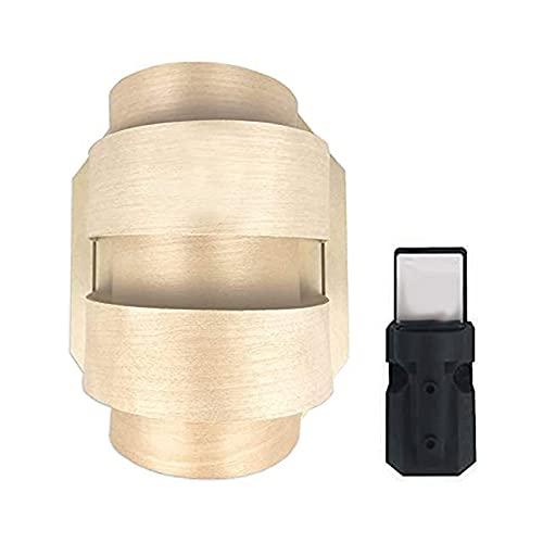 SudoreWell® Sauna Holzblendschirm Set klein für Saunaleuchte + Saunalicht inklusive Leuchtenfassung E14