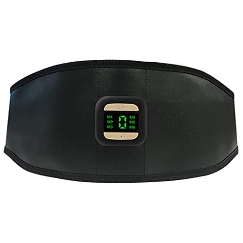 F Fityle Estimulador de Abdominales Inteligente de 6 Modos, Entrenamiento Eléctrico, Entrenador de Cinturón de Tonificación Abdominal, Moldeador de Cuerpo, con - Sin calefacción