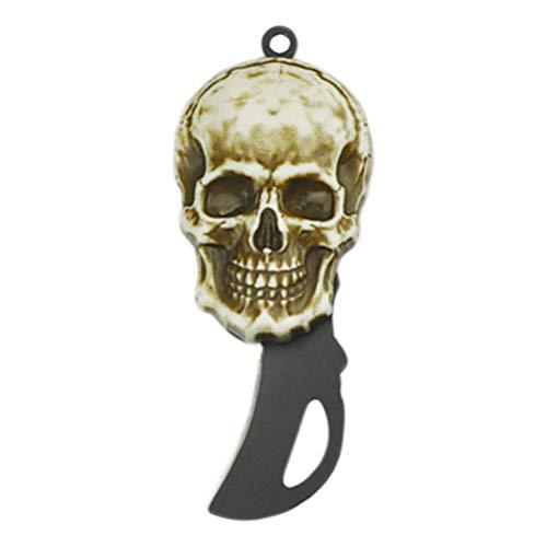 CLISPEED Couteaux Pliants en Acier Inoxydable Couteau Couteaux Outil de Survie en Plein Air (Noir)