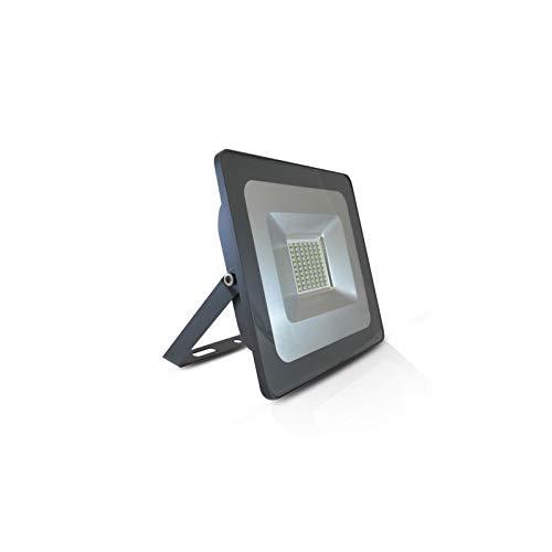Vision-el - Proyector LED plano (50 W, 6000 K, IP65), color gris
