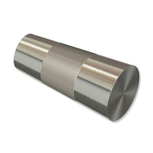 INTERDECO Endstücke Konus Edelstahl-Optik (Bicolor) aus Metall für Gardinenstangen 20 mm Ø (2 Stück)