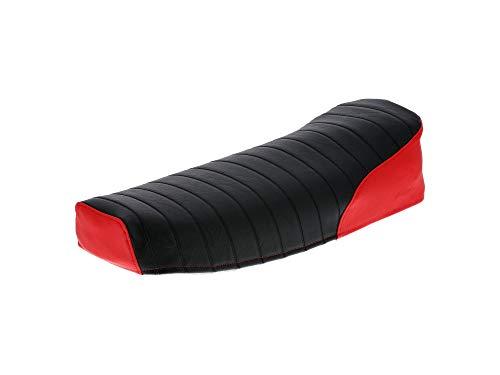 AKF Sitzbezug strukturiert, schwarz/rot ohne Schriftzug - für Simson S50, S51, S70, KR51/2 Schwalbe, SR4-3 Sperber, SR4-4 Habicht