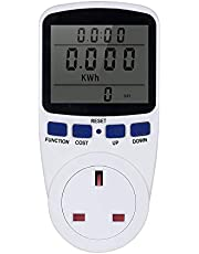 LCD Display Electricity Usage Power Meter Socket Energy Watt Volt Amps Wattage KWH Consumption Outlet- AC230V~250V