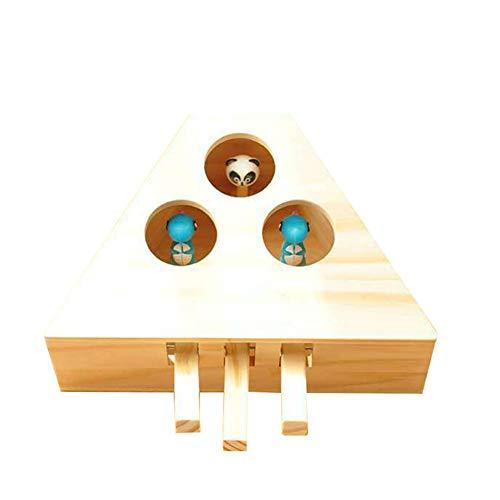 BOLANA Holzkatze Whack-a-Mole Toy Hamster Spielzeug Holzkatze Spielzeug zum Spielen mit Katze Cute Funny Toys