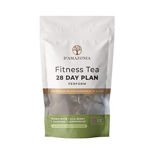 D'Amazonia Fitness Tea - Natural Energy Booster - Detox Tea - Reduce Bloating - Herbal Tea - Boost Immunity w/ 12 Energising Ingredients - 28 Tea Bags