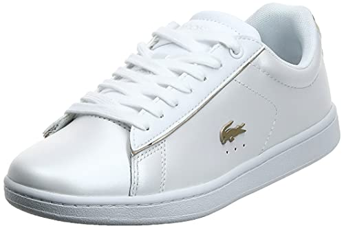 Lacoste Carnaby EVO 118 6 SPW, Zapatillas Mujer, White/Gold, 38 EU