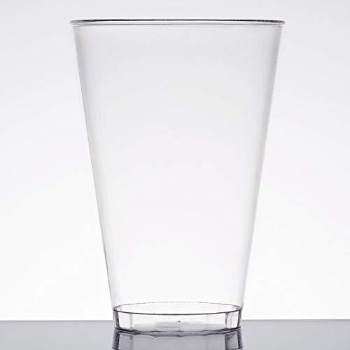 Pack de 40 vasos de plástico transparentes de alta calidad para fiestas, vasos de plástico reutilizables, vasos de cerveza de plástico, 398 ml
