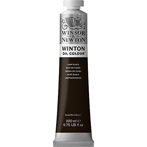 Winsor & Newton 1437337 Winton Oil Color Paint, 200-ml Tube, Lamp Black