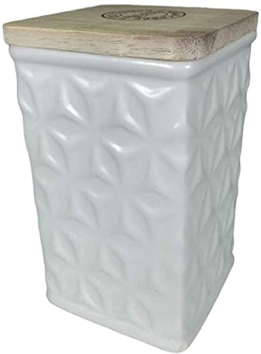 Swan Creek White Collection Canister Rum Raisin Glaze