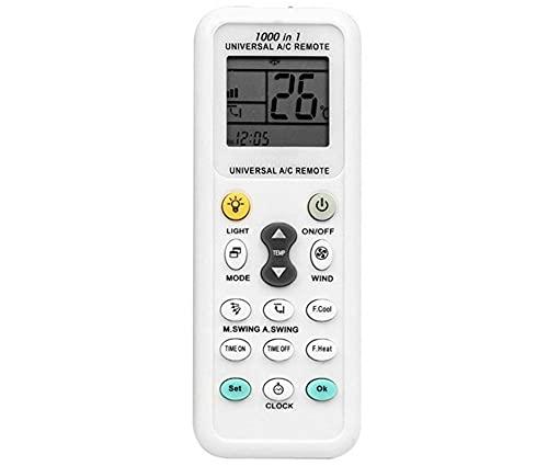 r2digital TELECOMANDO CONDIZIONATORE UNIVERSALE 5708 DISPLAY LCD UNIVERSALE CLIMATIZZATORE ARIA TEMPERATURA RICAMBIO