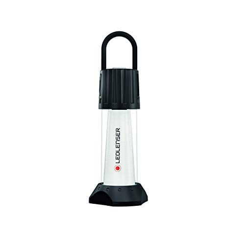 Ledlenser ML6 Connect WL, LED Laterne, Outdoor, Camping, mit Gummihaken, zum Aufhängen, wiederaufladbar mit Akku, mit Powerbankfunktion, mit Rotlichtfunktion, Fernbedienung und Magnetladekabel