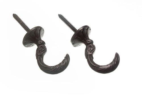 100 paires de rideaux Tie retiens Crochets égyptien Noir 45Mm