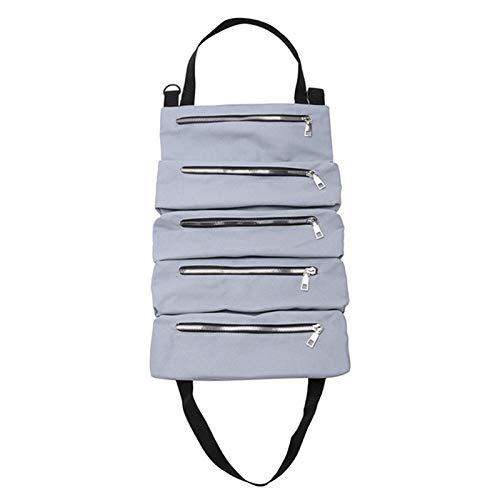 RONGSHU Autowerkzeug up Taschen Leinwand Aufbewahrungsbeutel Tools Tote Sling Halter Rücksitz Organizer Grau (Color : Gray)