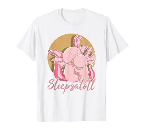 Axolotl Bebé Salamandra Mexicana Dormir Sleepsalotl Ajolote Camiseta