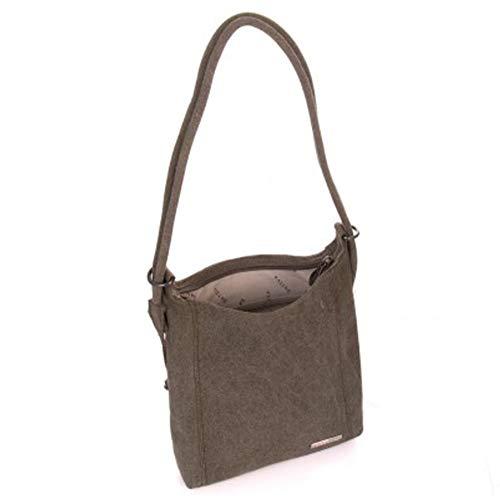 Hemp Small Handbag & Backpack by Sativa Bags - Khaki