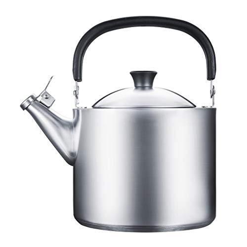 Xinxinchaoshi Tetera de Silbadora Antiescaldadura Acero Inoxidable Caldera de té de la Tetera silba quemadores Tetera con Mango ergonómico 3,5 litros Kitchencraft Hervidor