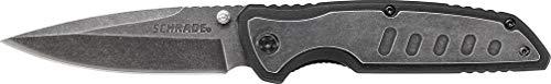 Schrade SCH505 Cuchillo tascabile,Unisex - Adulto, Negro, un tamaño