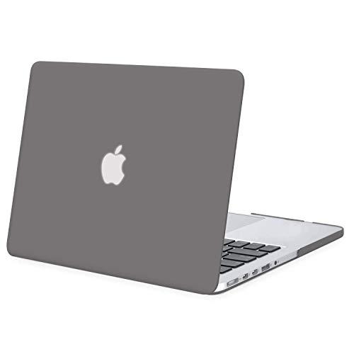MOSISO Hülle Kompatibel mit MacBook Pro 15 Retina - Ultradünne Plastik Hartschale Hülle Kompatibel mit MacBook Pro Retina 15 Zoll (Modell: A1398)(Release 2015 - Ende 2012), Grau
