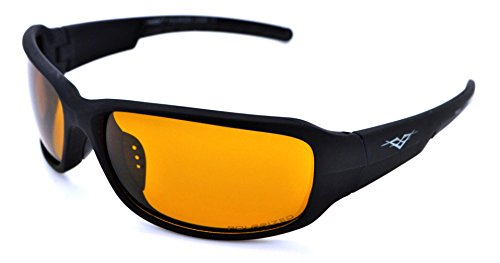 VertX Polarized Lightweight Durable Mens & Womens Athletic Sport Night Driving Sunglasses Cycling Running w/FREE Microfiber Pouch - Black Frame - Yellow Lens